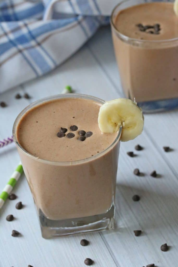 Clean eating chocolate shake