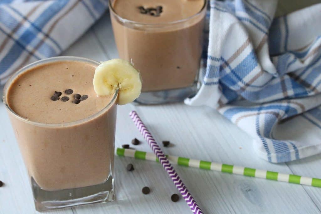 Clean eating chocolate shake