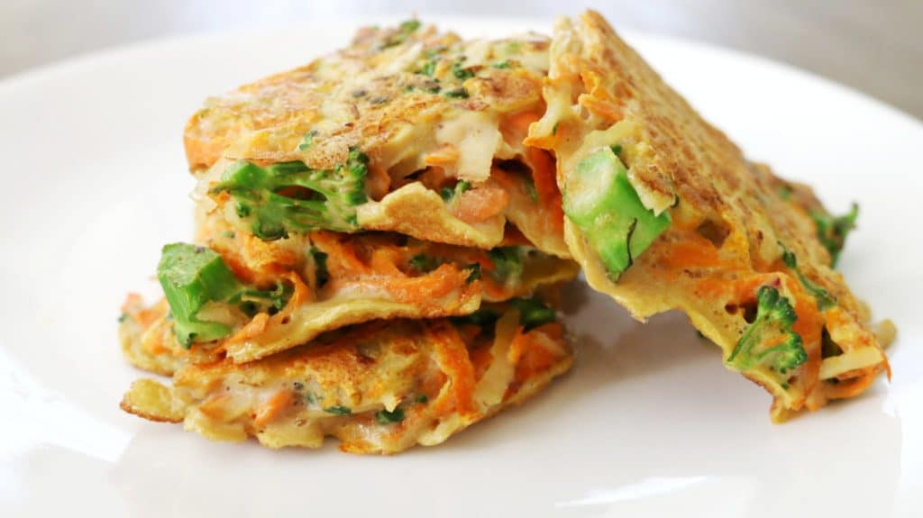 healthy veggie patties with carrots, potatoes, and zucchini