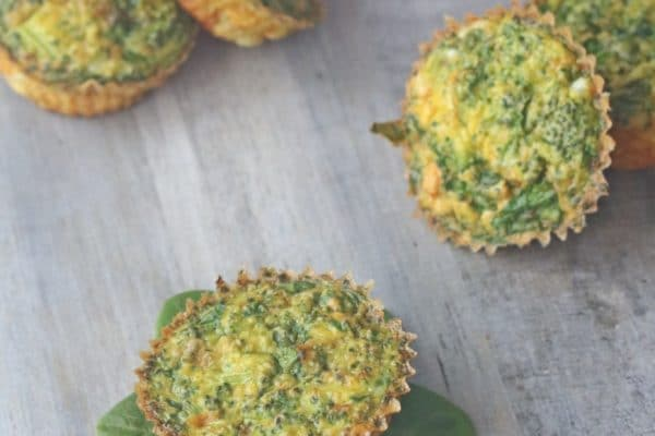 egg cups with spinach