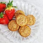 vegan strawberry muffin