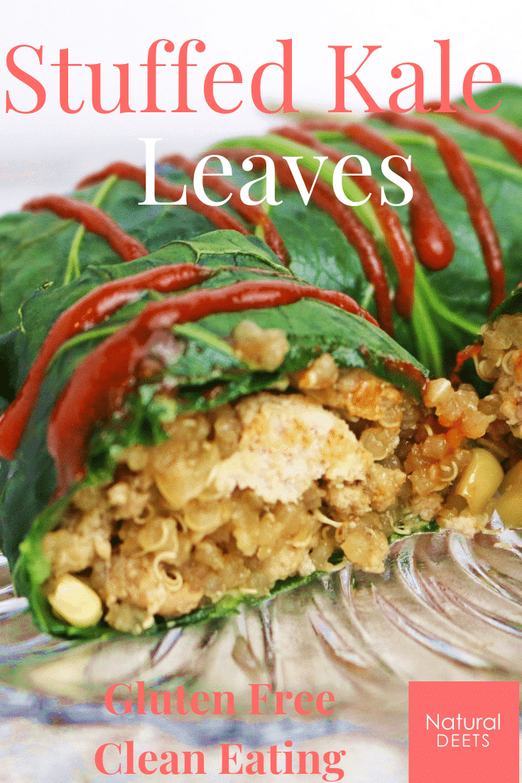 asian stuffed kale leaves