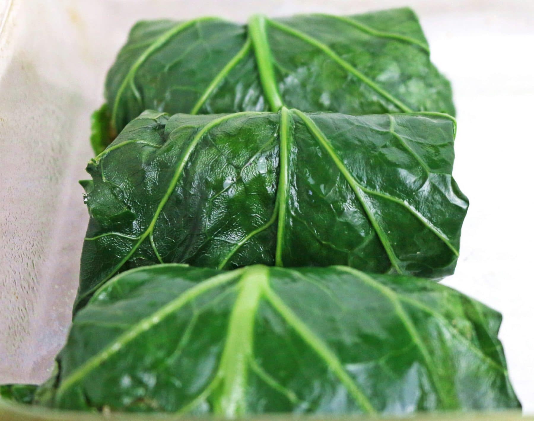 stuffed kale leaves