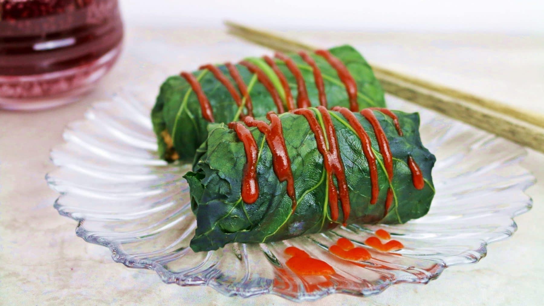 stuffed kale rolls