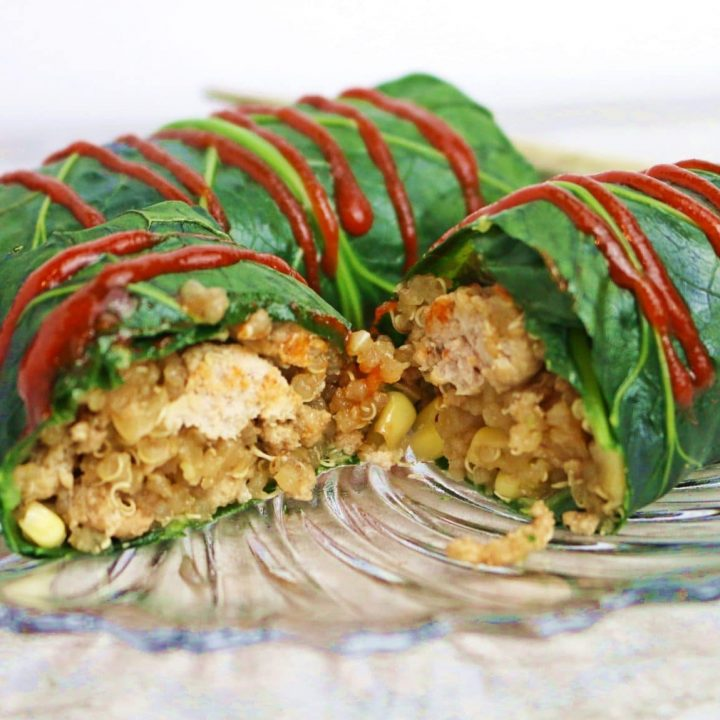 stuffed kale leaves