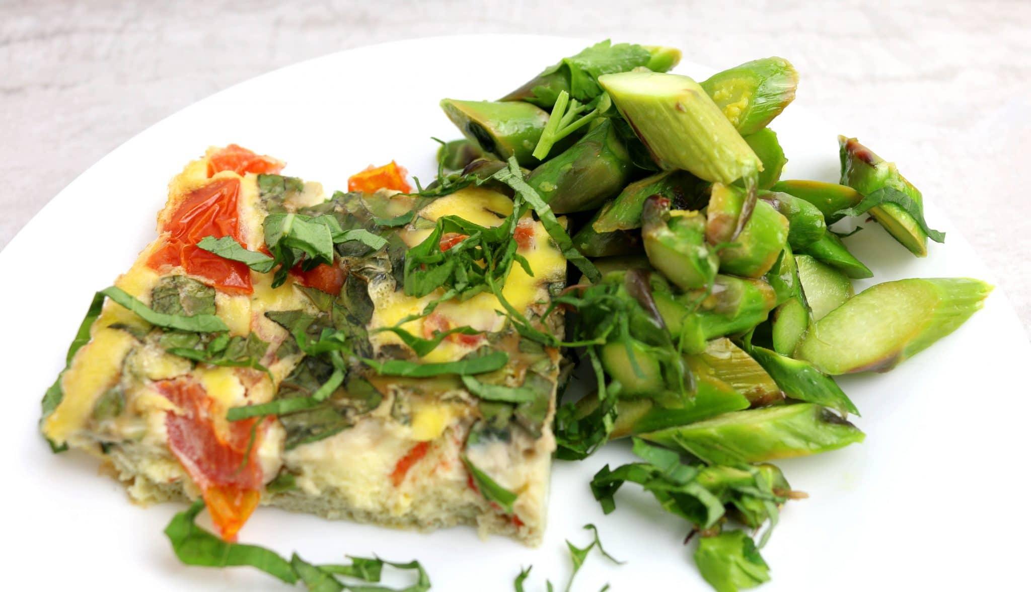 photo of caprese egg casserole