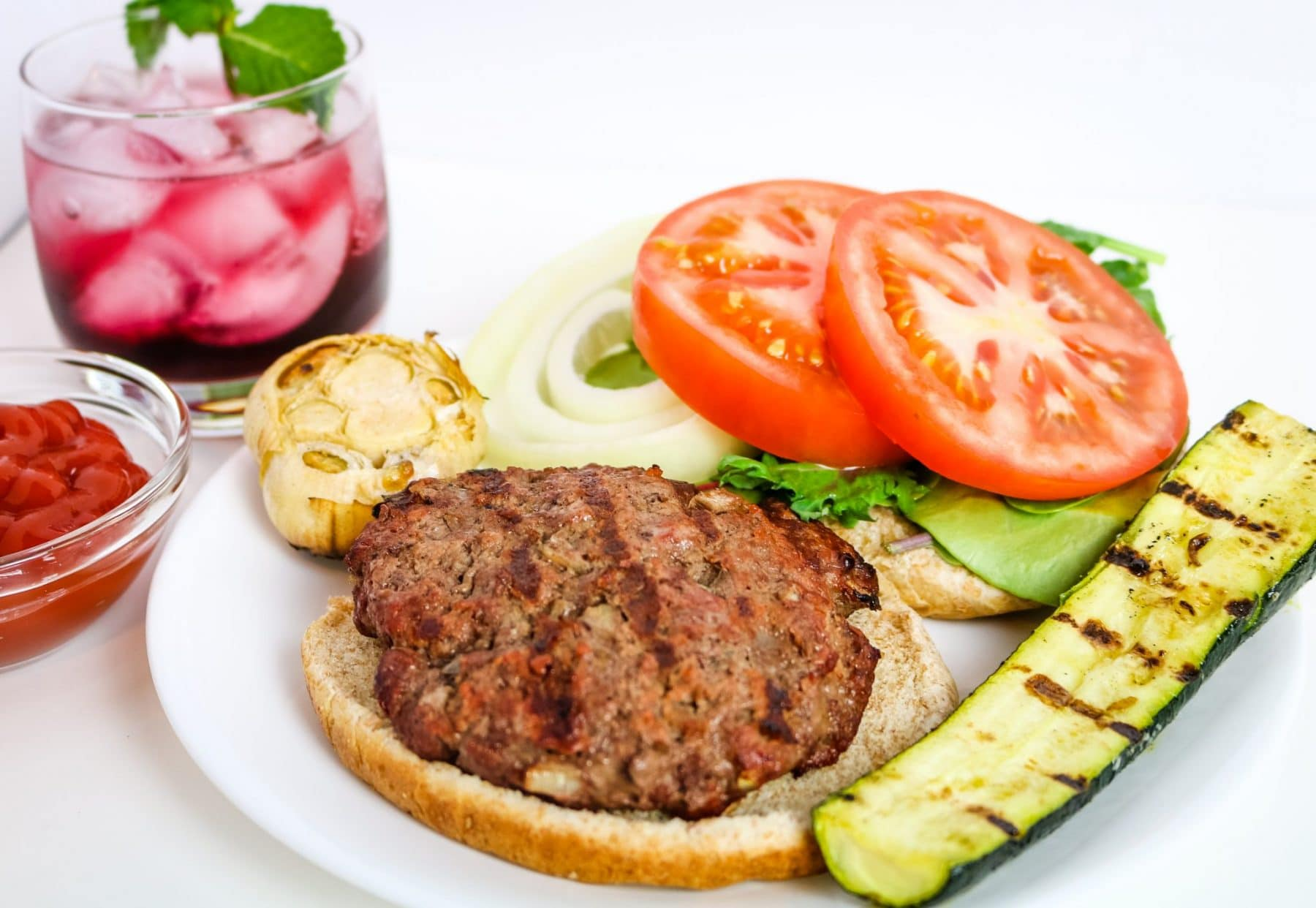 picture of bison burger