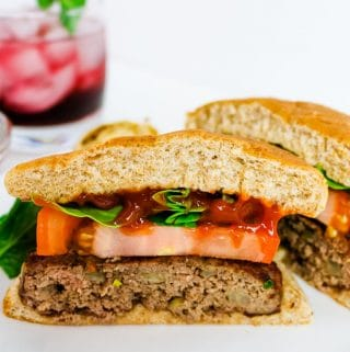 healthy bison burger