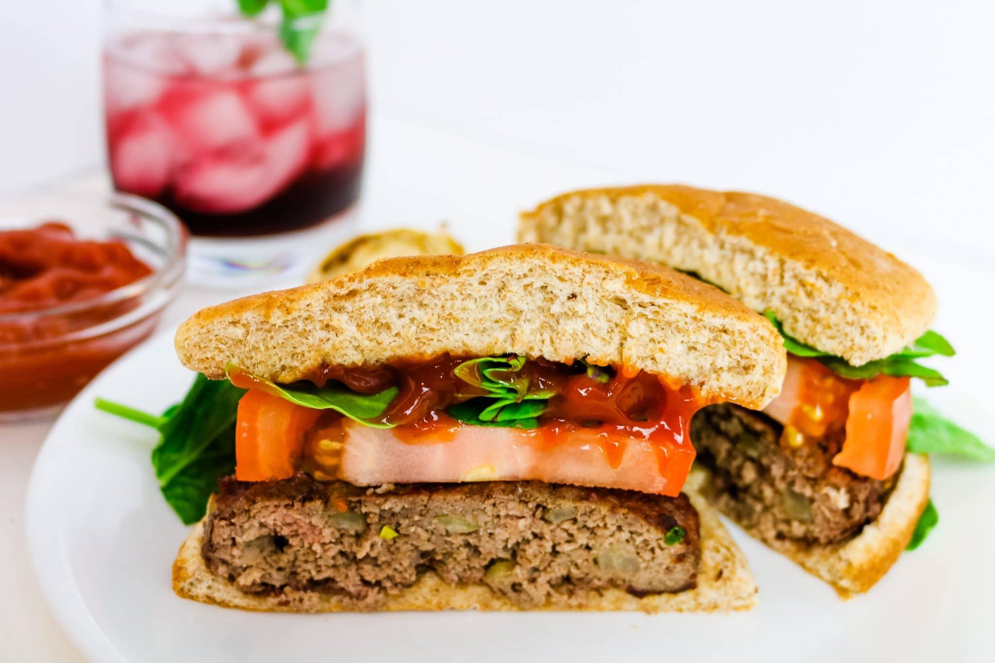 healthy bison burger