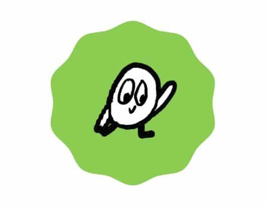 bird in green circle