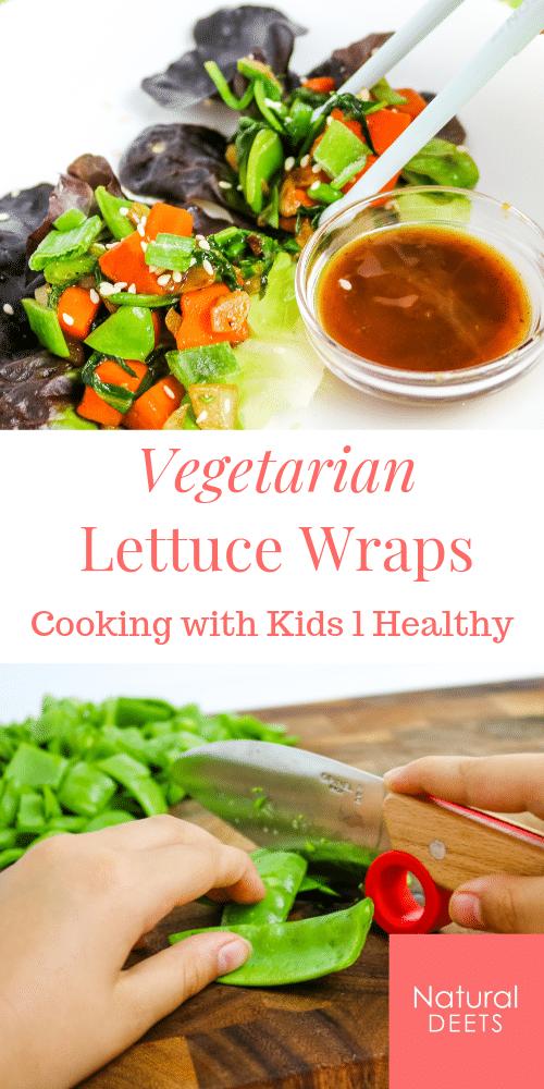 pin for vegetarian lettuce wraps