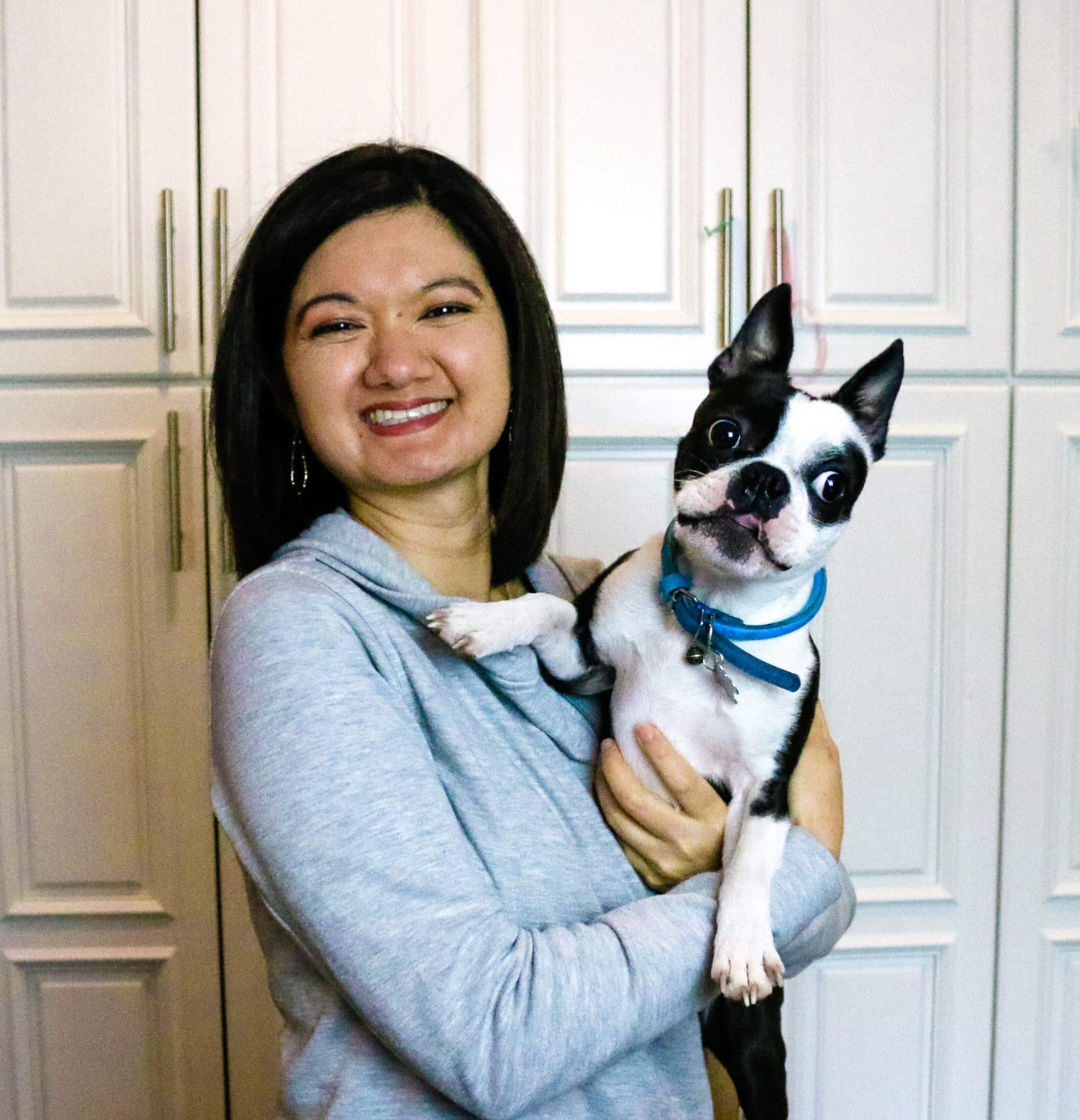 picture of kim and dog