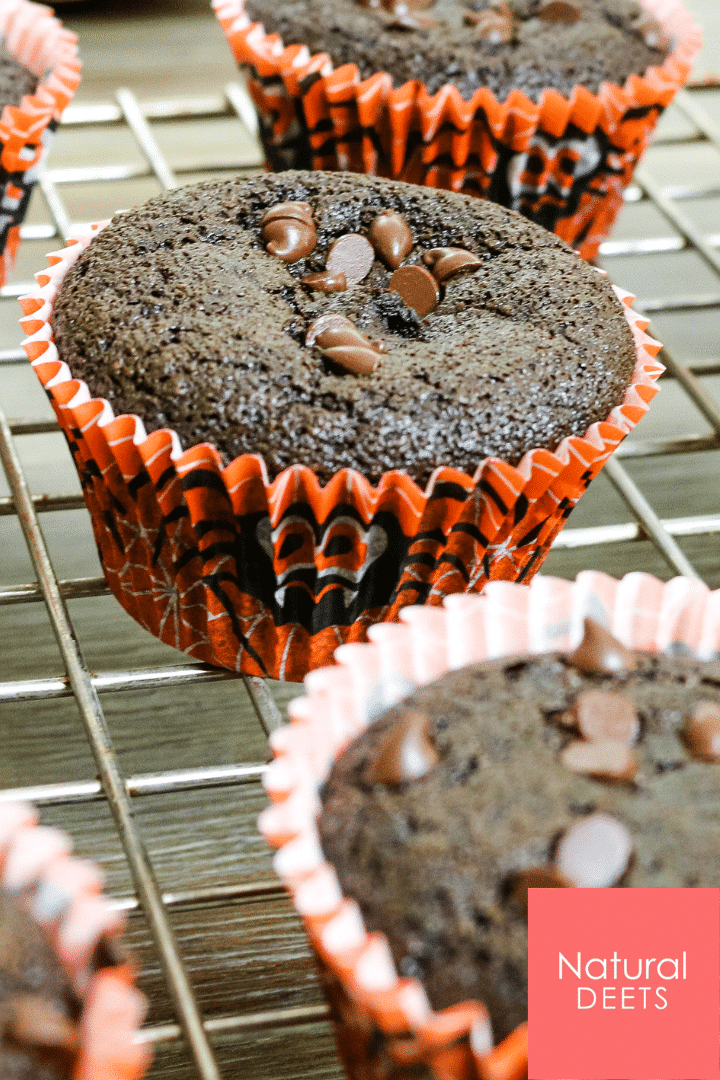 chocolate cupcakes in a halloween wrapper