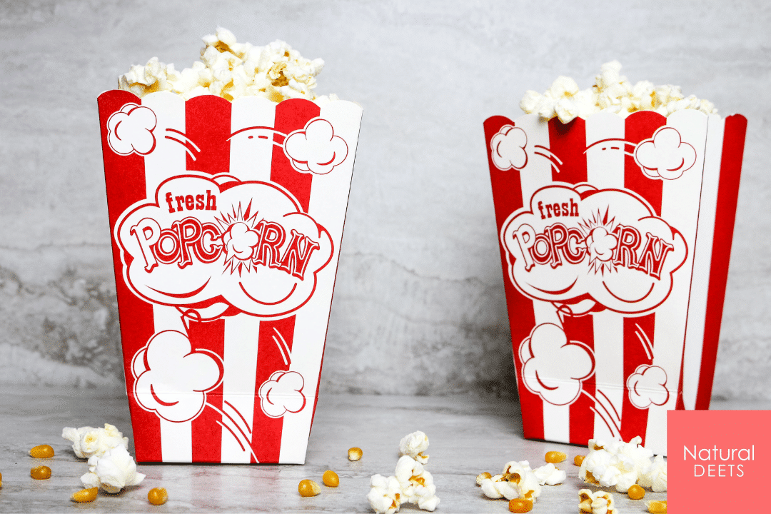 picture of two popcorn bags with popcorn