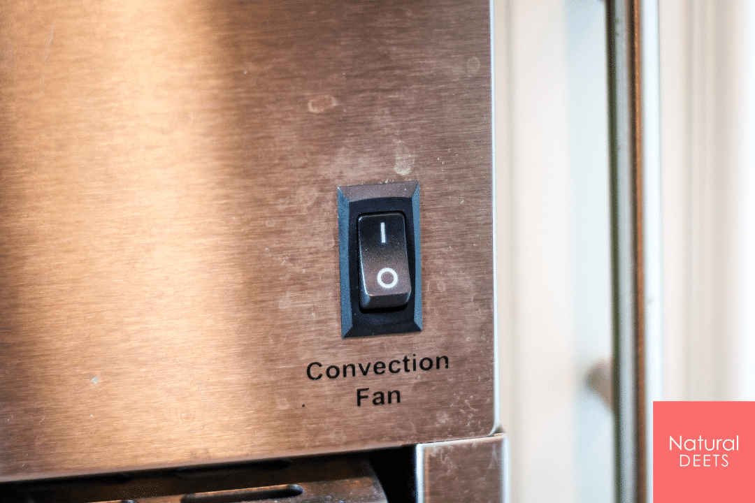 a picture of the convection button on the stove