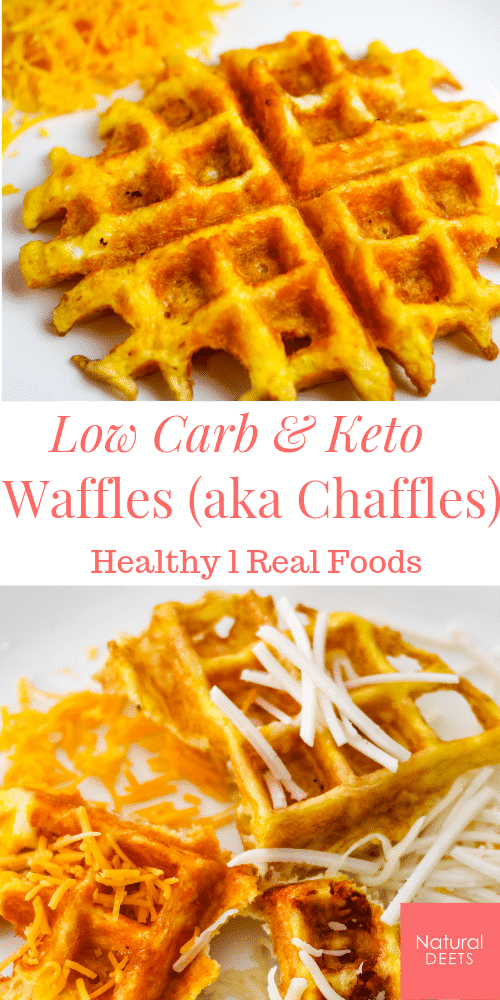 pin for keto and low carb waffles