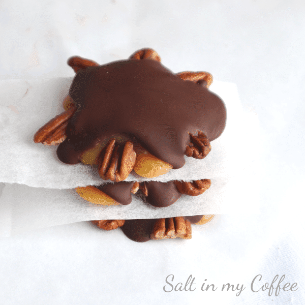 paleo maple caramel turtles