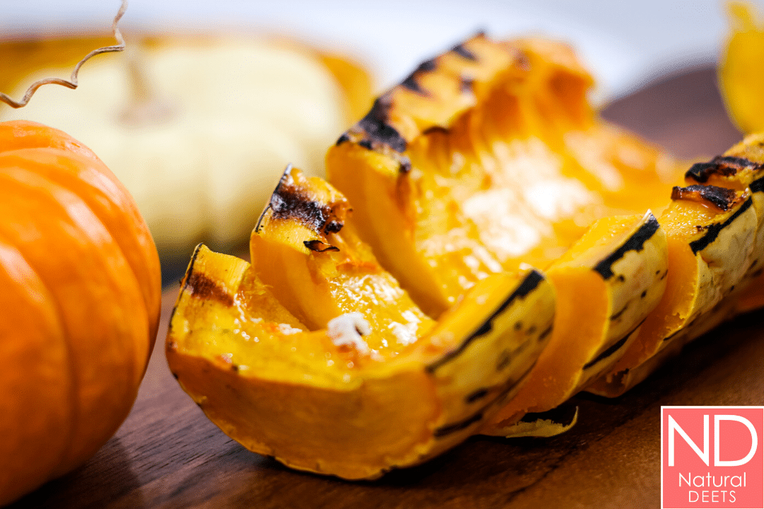 a picture of yellow and green delicata squash with bbq grill marks