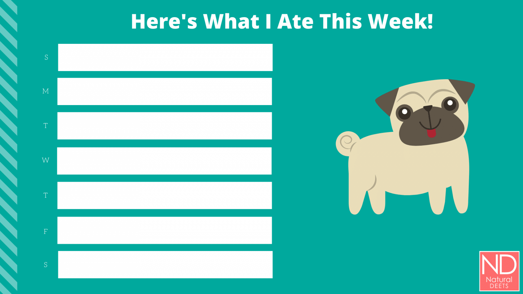 picture of a food chart that is blue with a dog picture
