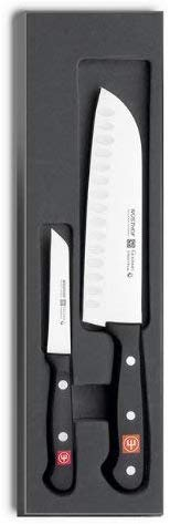 a santoku knife and a parer knife from wusthof