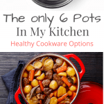 a pinterest pin that says the only 6 pots in my kitchen