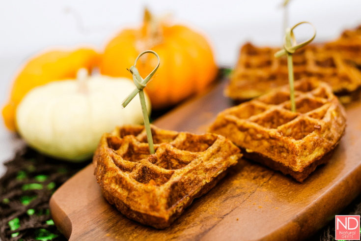 The EASIEST Pumpkin Keto Chaffles! Low Carb and Keto Friendly