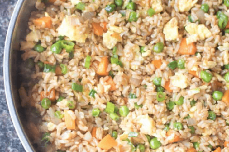 Super Easy Vegetarian Fried Rice