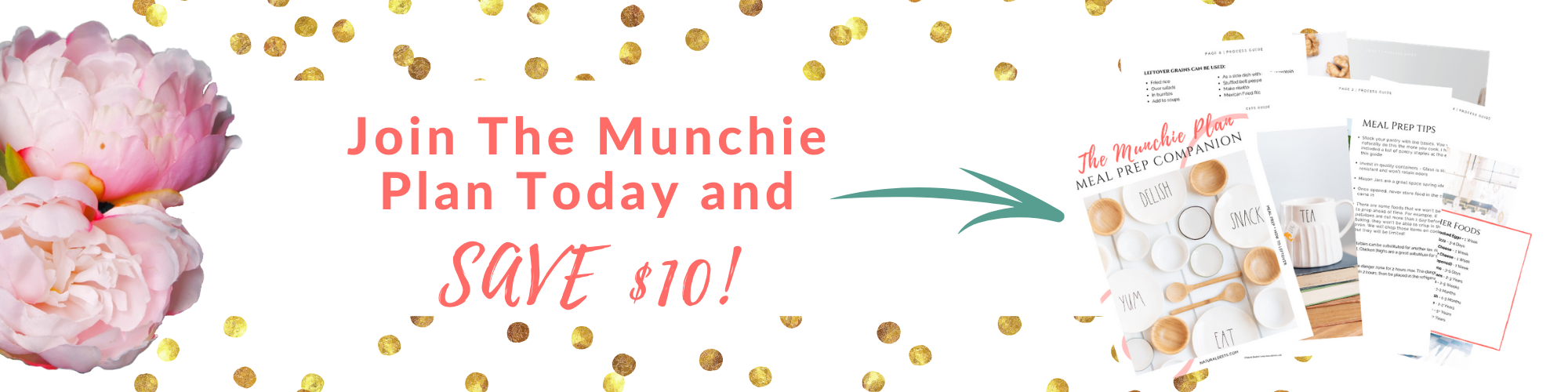 a picture that says join the munchie plan today and save $10